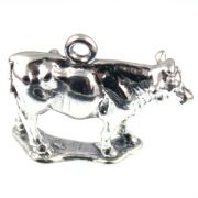 Cow - 3D Farm Animal Sterling Silver Charm